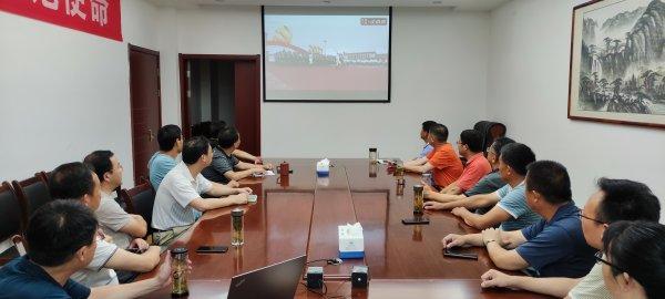 县人大机关集中收看庆祝中国共产党成立100